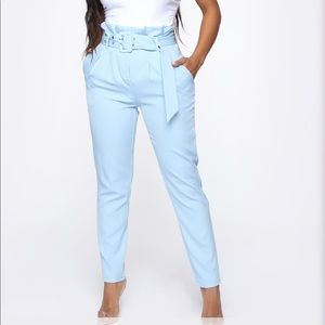 Fashion Nova belted pants